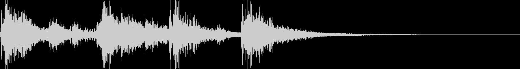 電子音を使ったコミカルなアイキャッチの未再生の波形