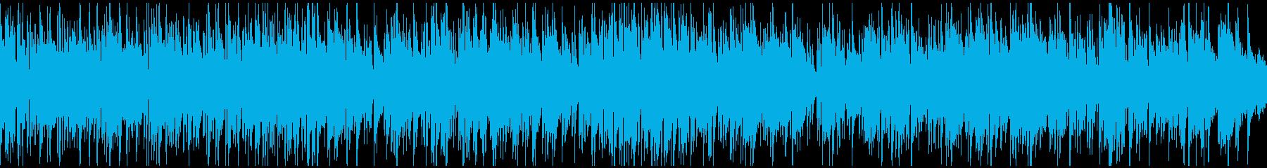 軽快ボサノバ・ジャズ、爽やか ※ループ版の再生済みの波形