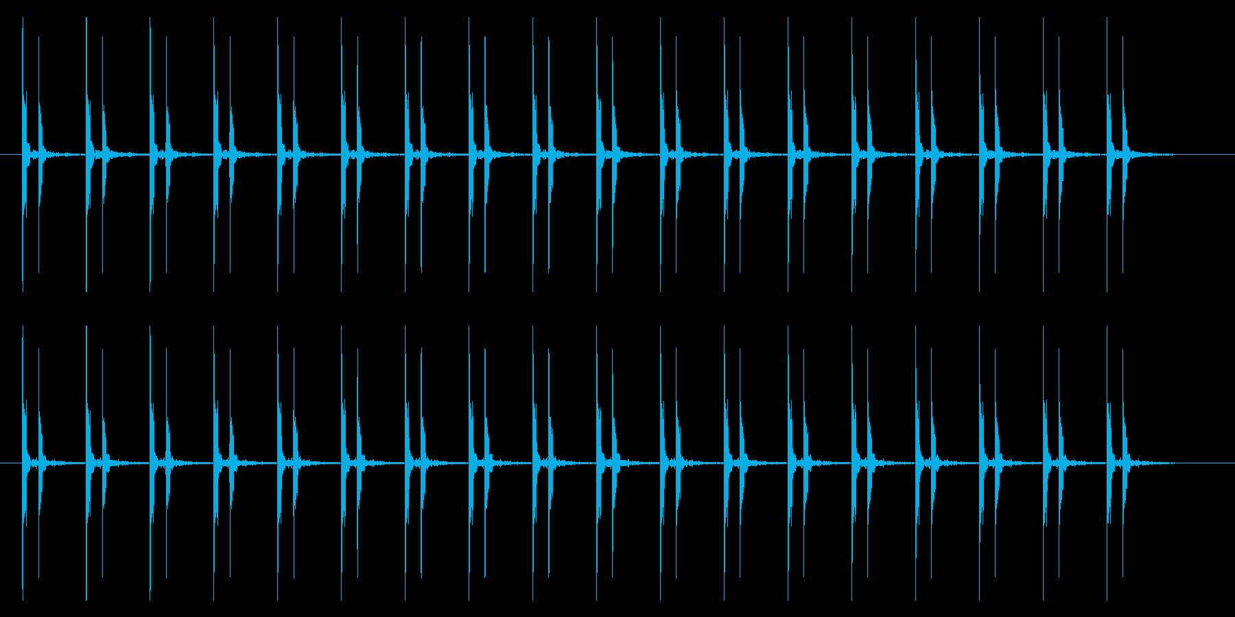心臓の鼓動(ドクンドクン)通常の再生済みの波形