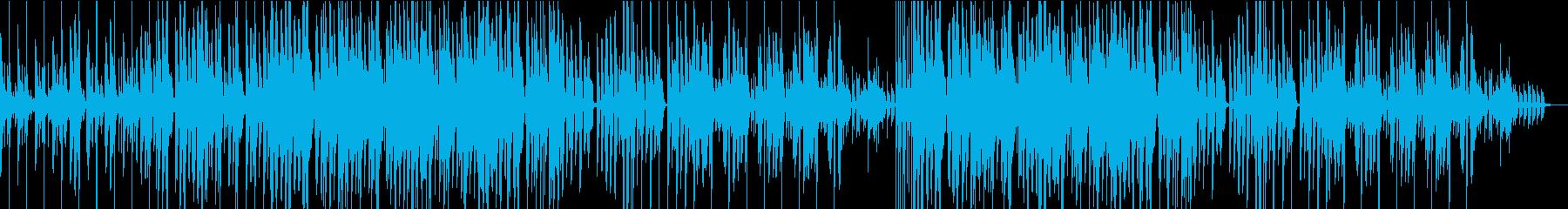 軽快レトロな可愛らしいゲーム風音楽の再生済みの波形