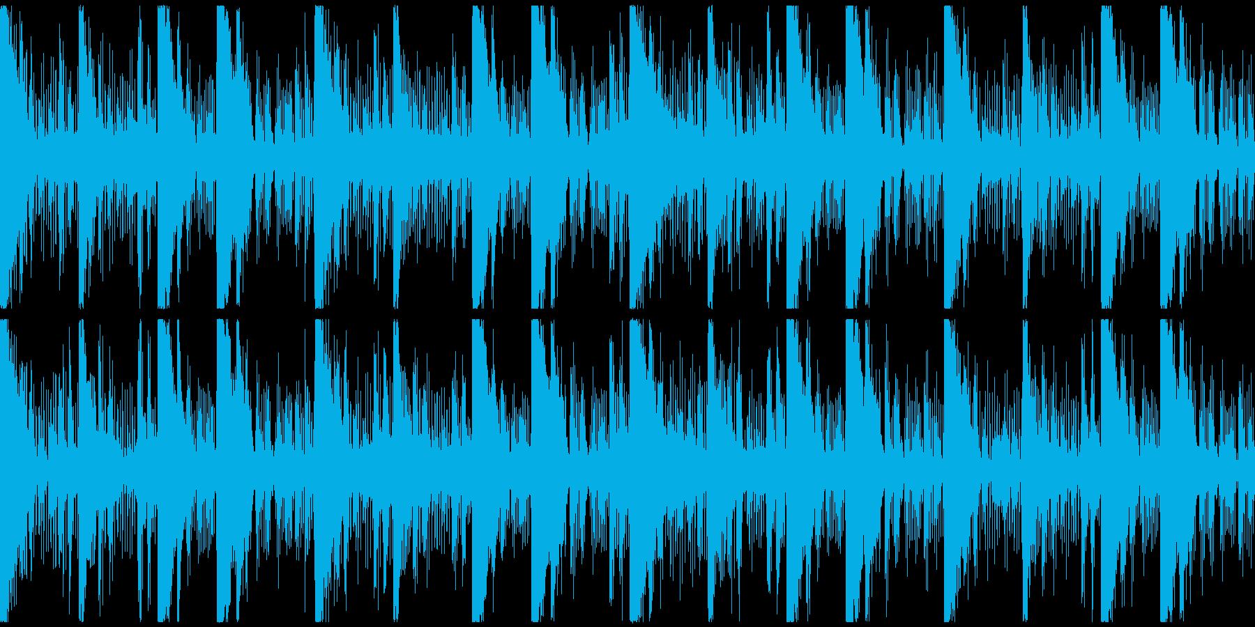 シンセサウンド。怪しい雰囲気のループ曲の再生済みの波形