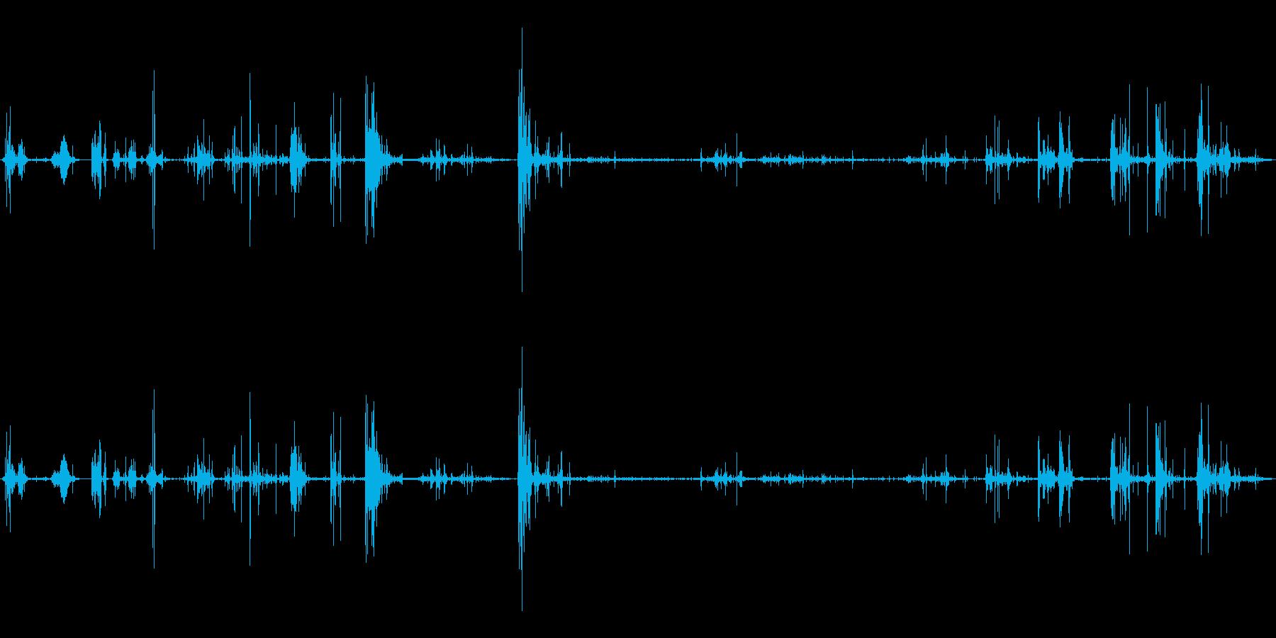 さまざまなウェットゴッピースクイーズの再生済みの波形