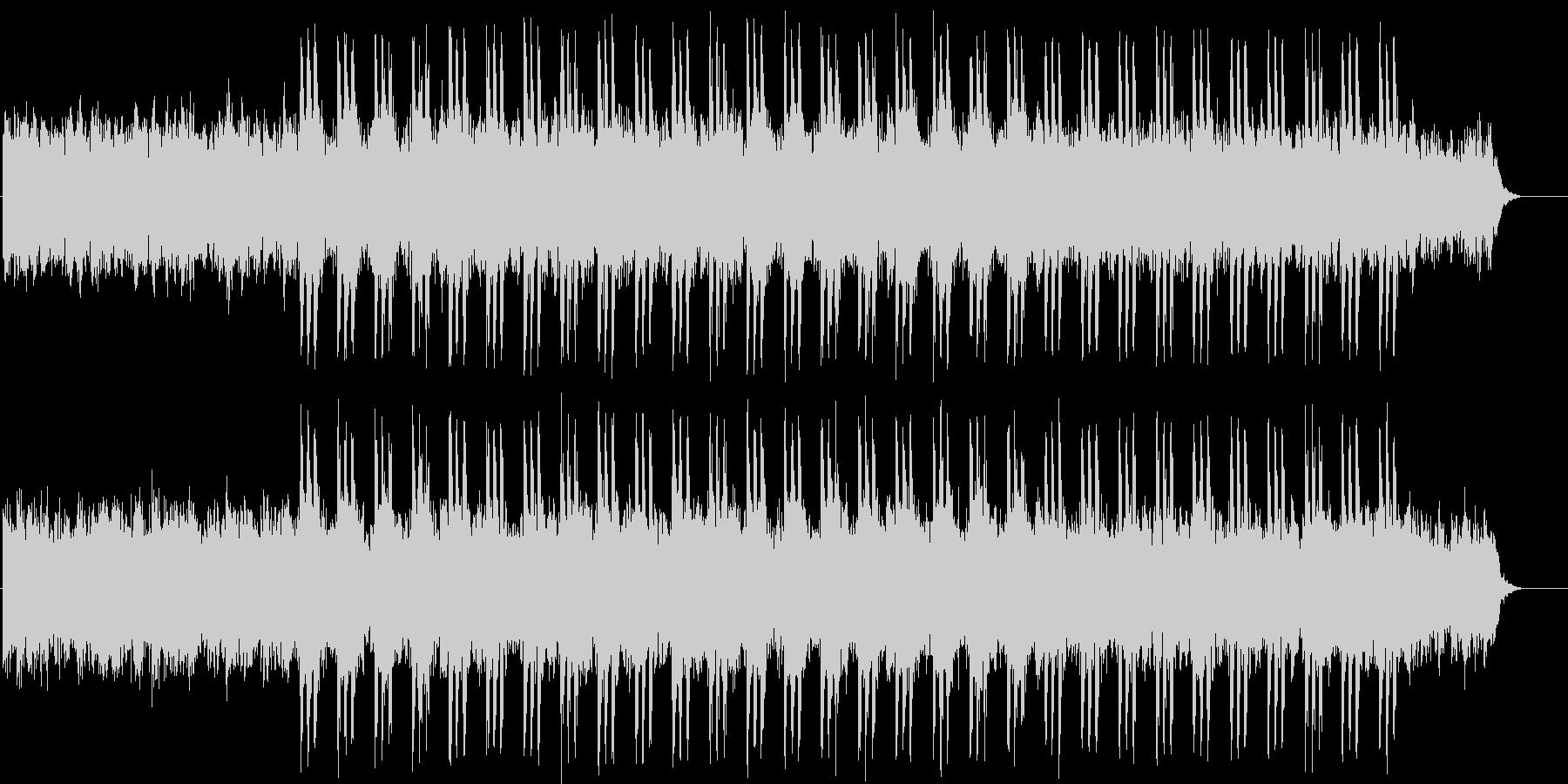 不安を感じるような不思議なBGMの未再生の波形