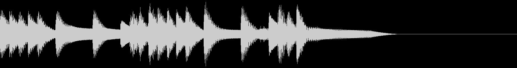 木琴のかわいいジングルの未再生の波形