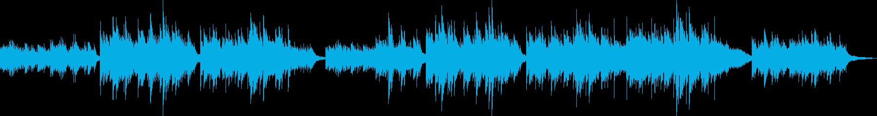 ピアノソロから穏やかに盛り上がる曲の再生済みの波形