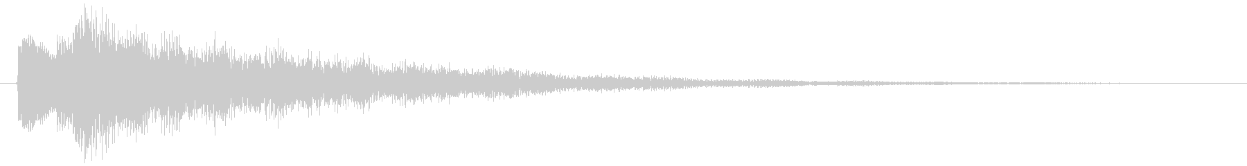 テュリーン、選択音・アイテム獲得音の未再生の波形
