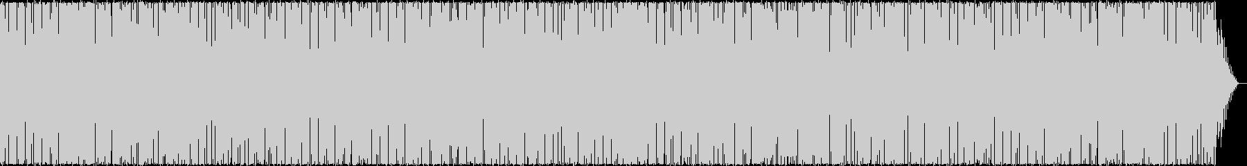 清涼感ある明るいアップテンポのハウスの曲の未再生の波形