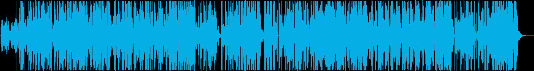 アグレッシヴなレゲエヒップホップの再生済みの波形