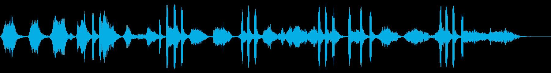 2つのベルーガクジラ:声を出す、動...の再生済みの波形