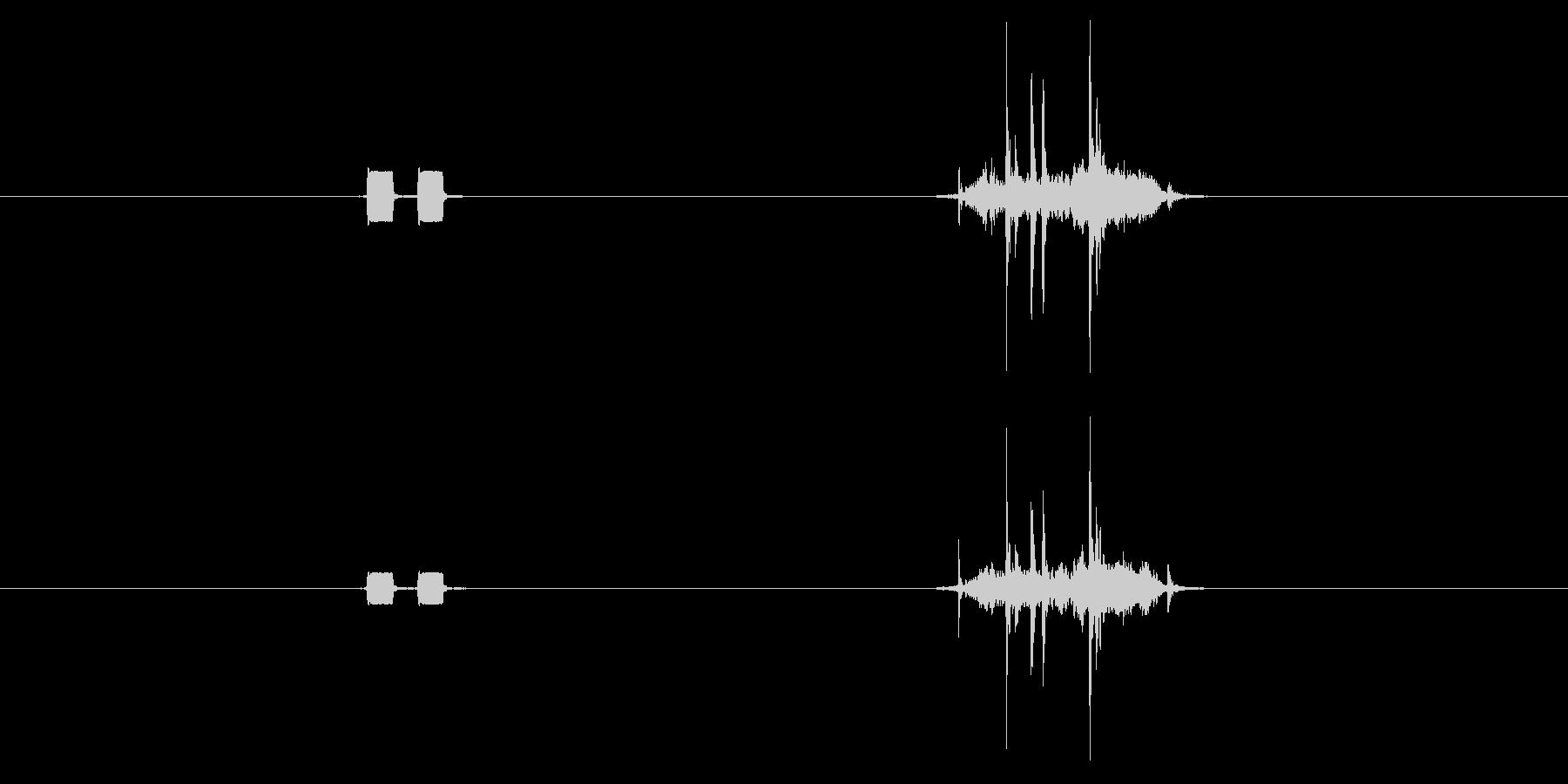 【録音】電子音+シャッター音[短め]の未再生の波形