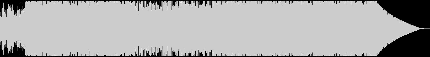 80's retro synthwaveの未再生の波形