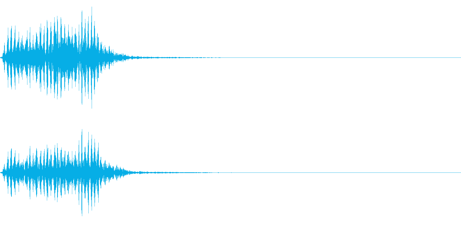 【生録音】フラミンゴの鳴き声 43の再生済みの波形