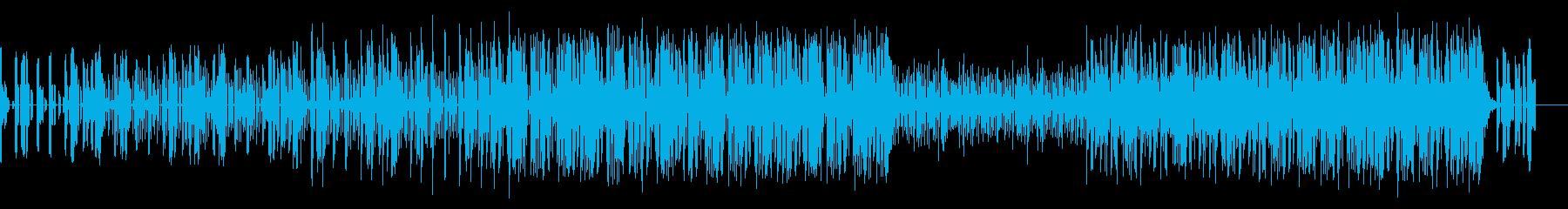 少しの不穏さを覗かせるアンビエント曲の再生済みの波形
