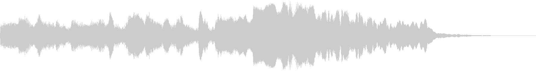 優雅なフルートとチェンバロのジングルの未再生の波形