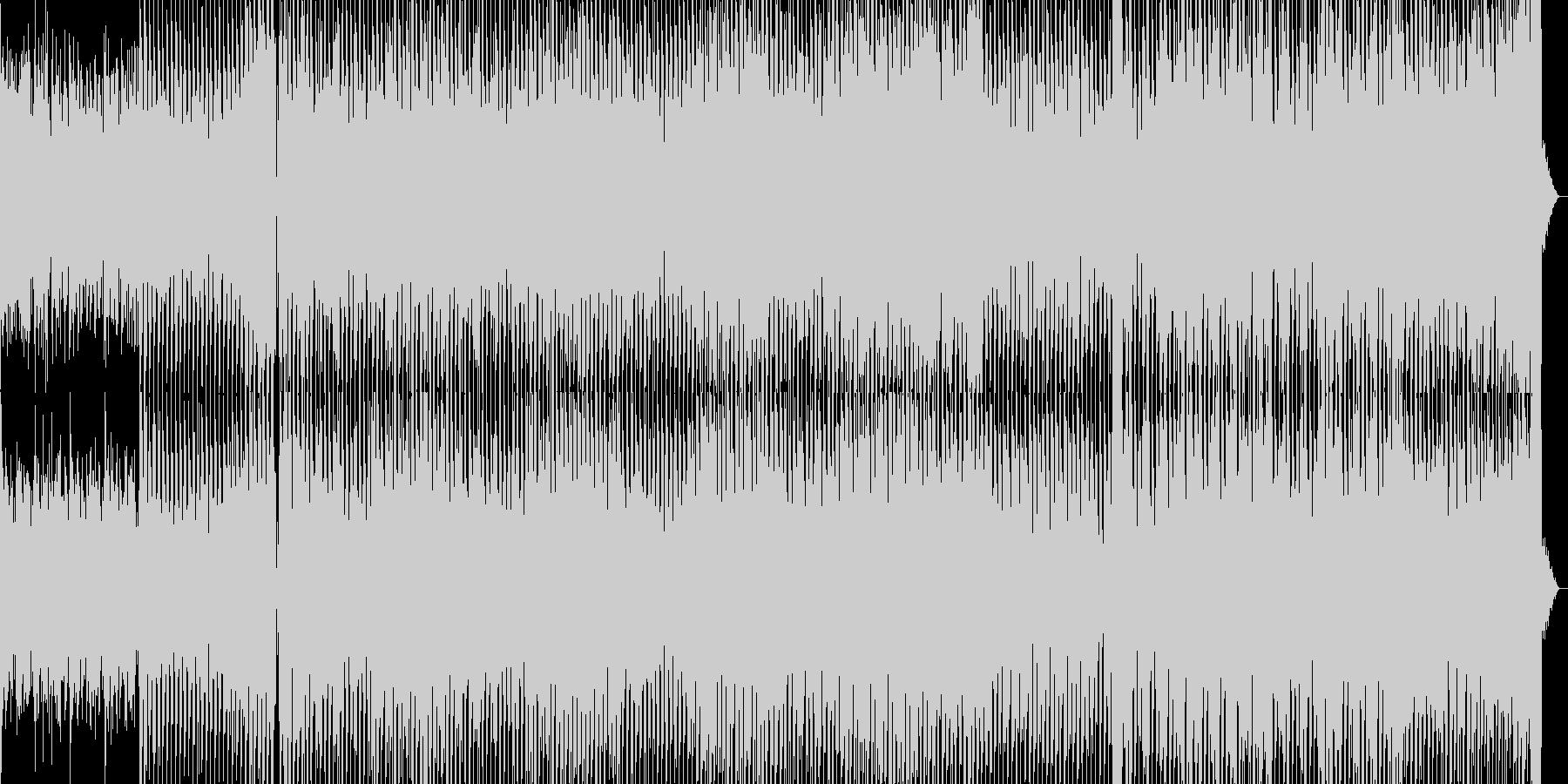 ミニマリズムがかっこいいテクノ曲の未再生の波形
