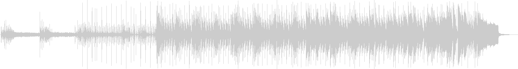 浮遊感のあるテクノポップ音の未再生の波形