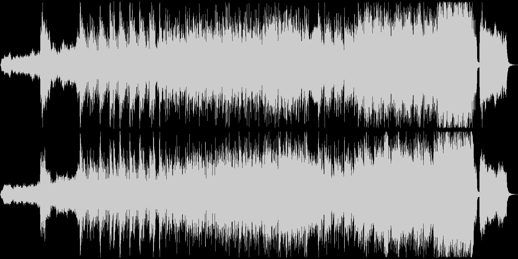 オープニングに適した緊迫感のあるBGMの未再生の波形