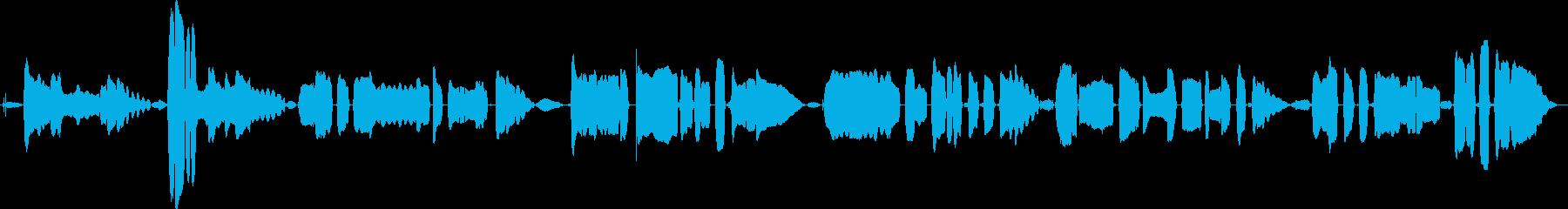 鳴き声 女性歌うジャズインプロロング01の再生済みの波形