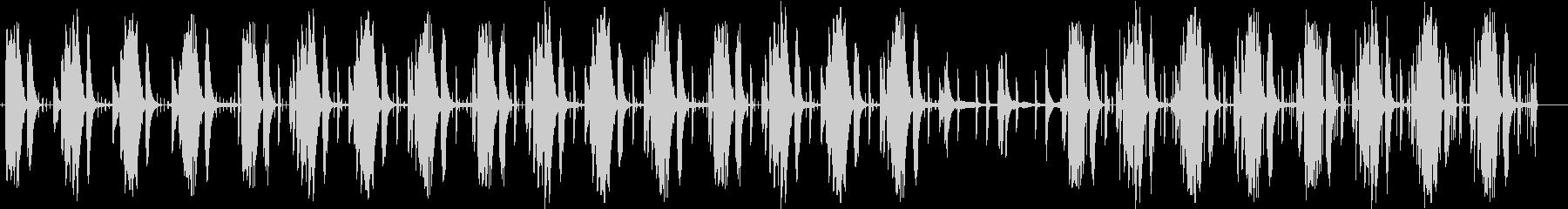 同じフレーズが繰り返される曲の未再生の波形