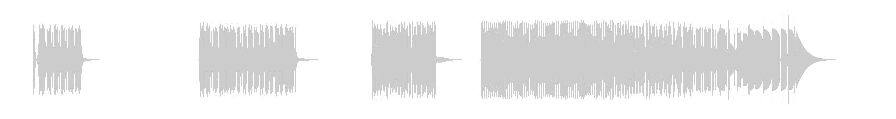 スタッターバズスワイプ5の未再生の波形