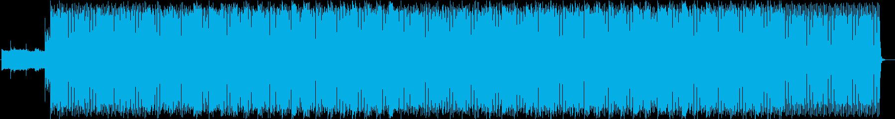 E.ベースをフィーチャーしたテクノ♪の再生済みの波形