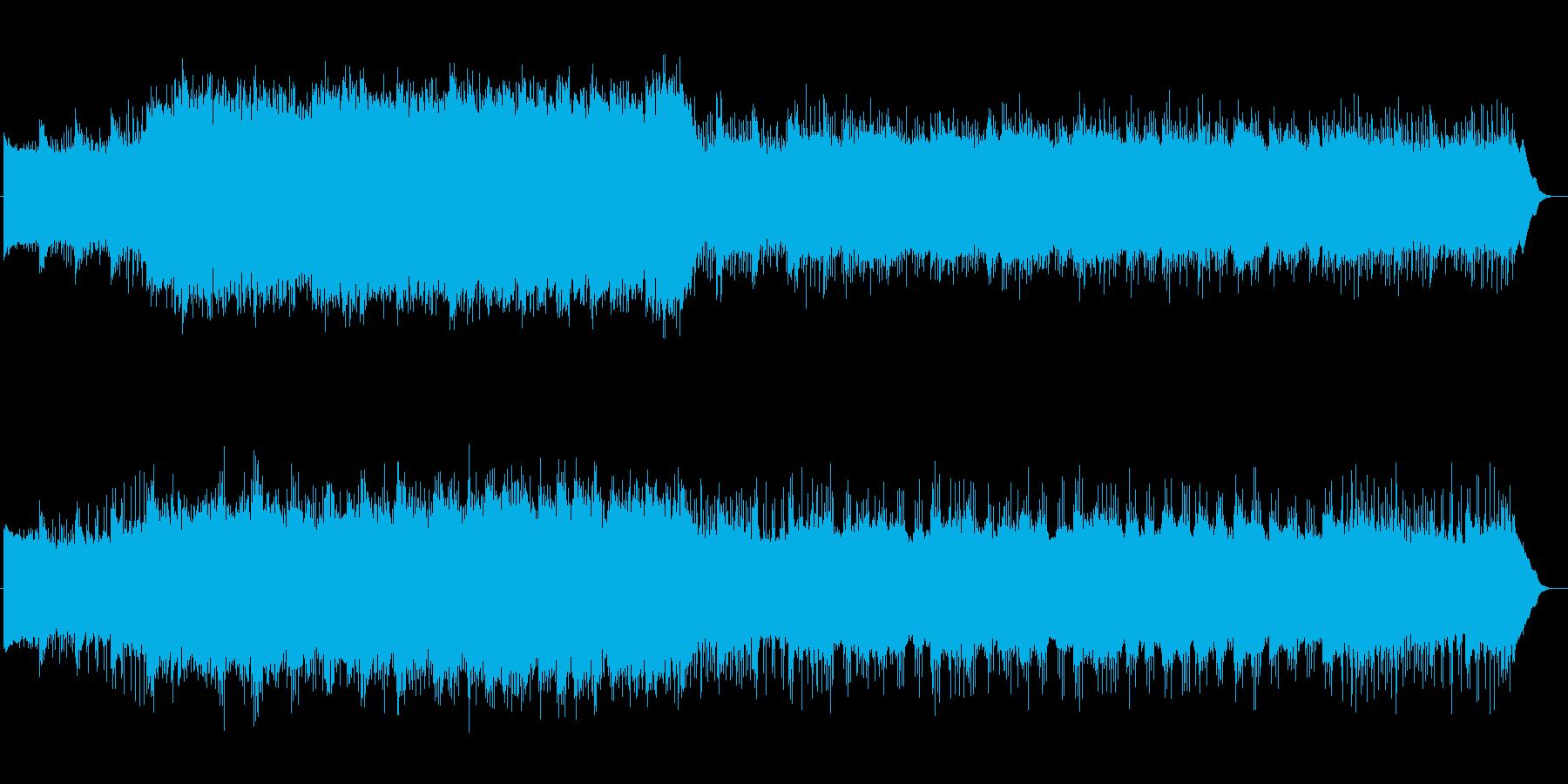 幻想的でゆるやかなテクノ音楽の再生済みの波形