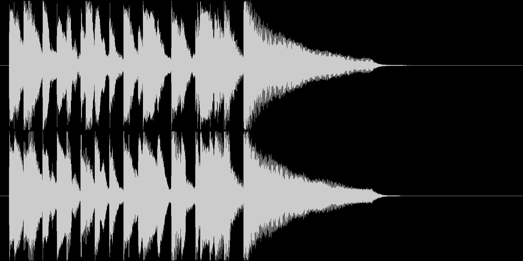 アイキャッチに使える10秒ピアノ・後半の未再生の波形