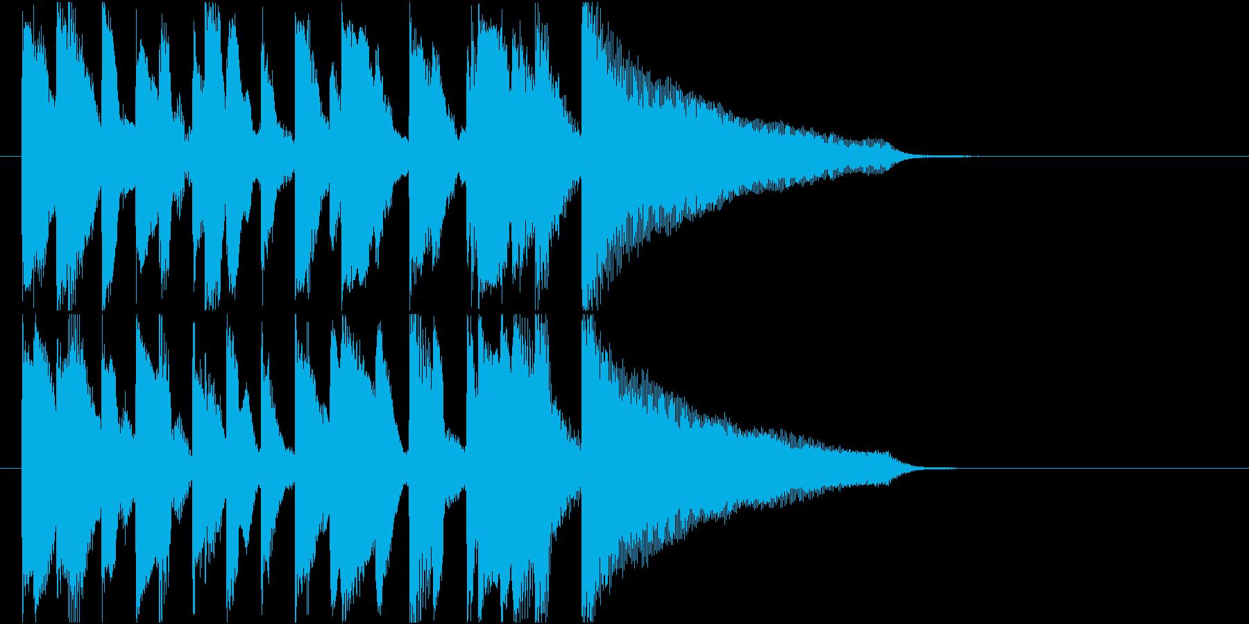 アイキャッチに使える10秒ピアノ・後半の再生済みの波形