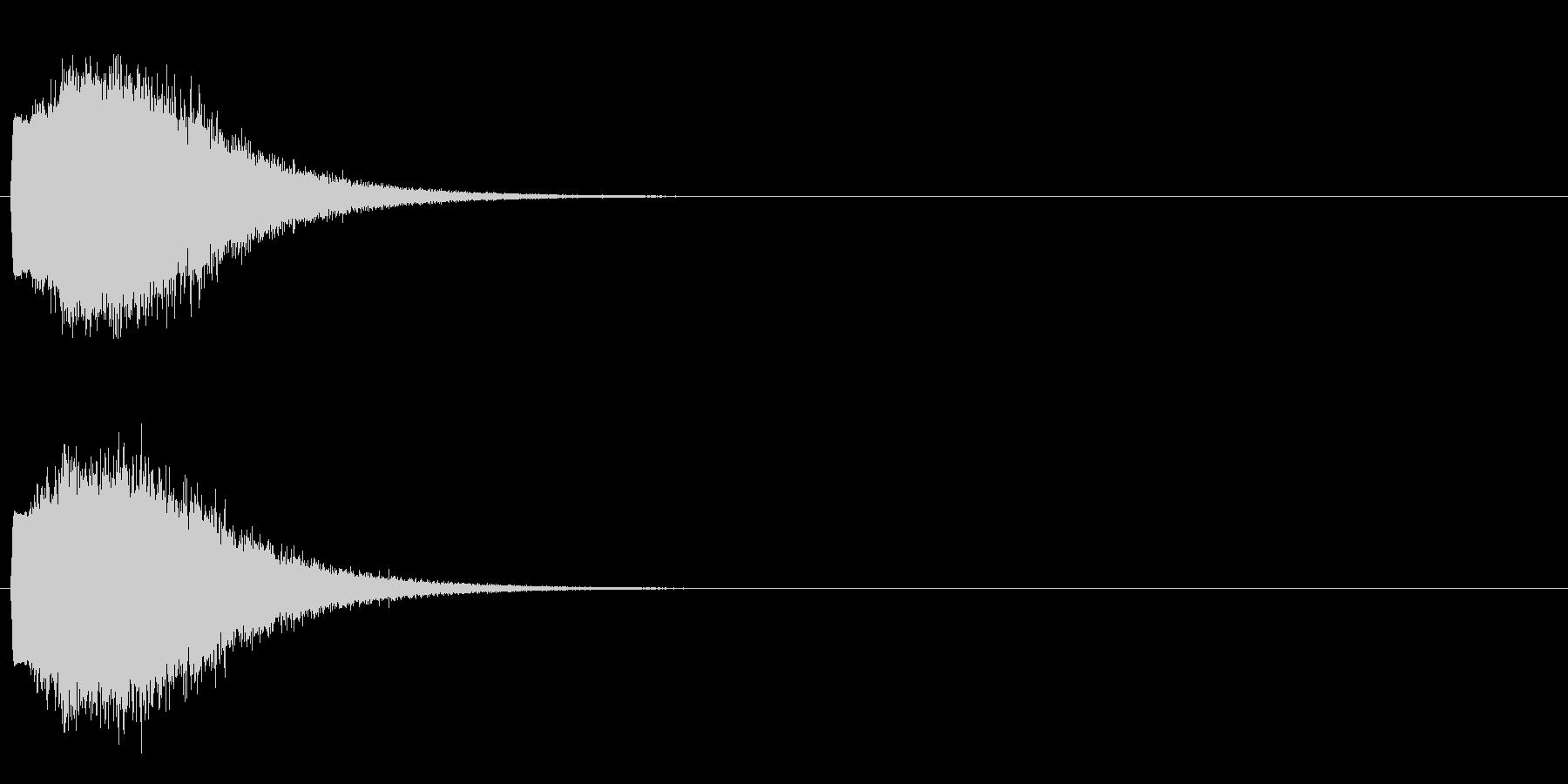 「キュイン!」輝く・レーザー発射2の未再生の波形
