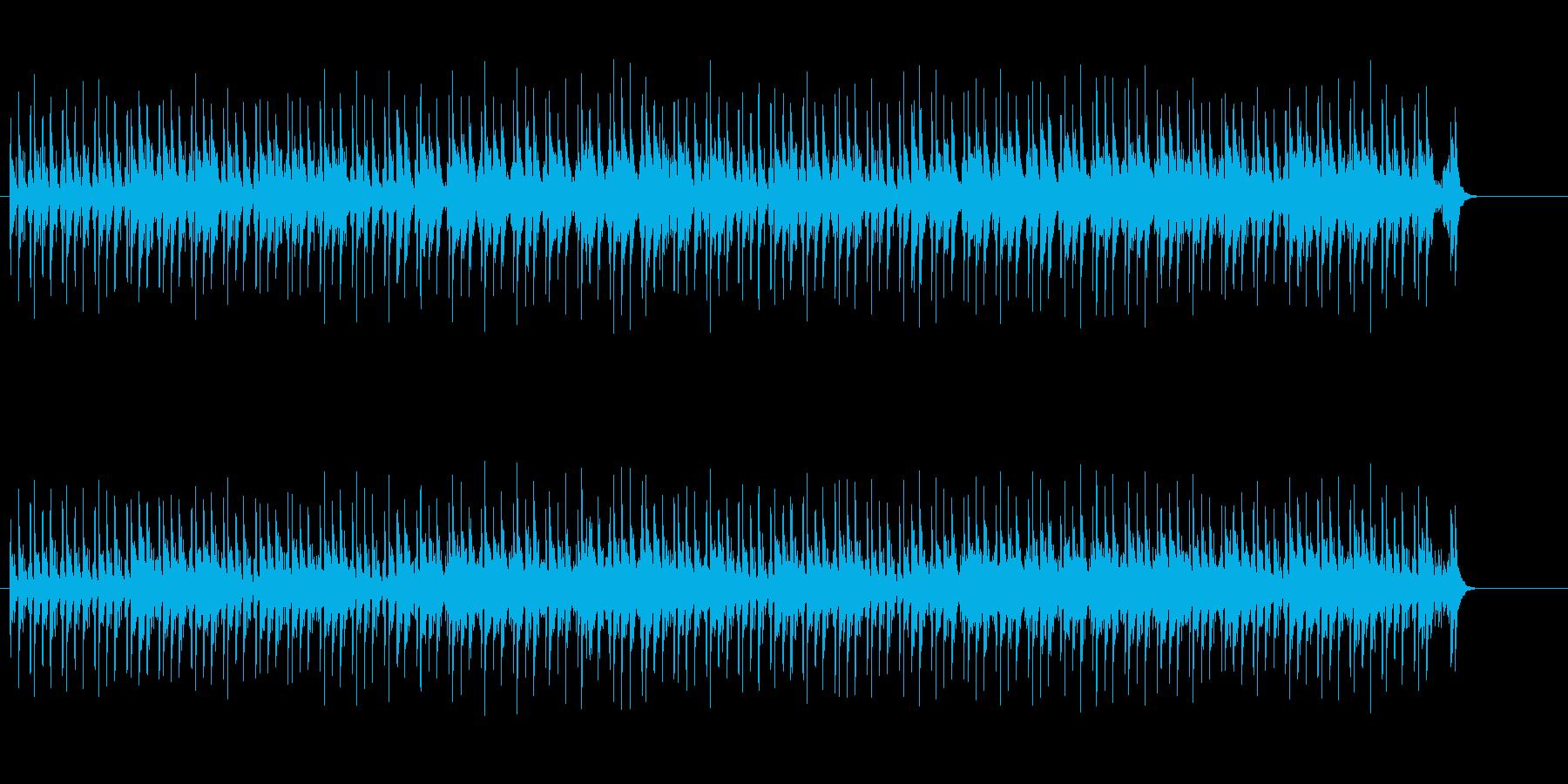 情緒的なユーロ・ポップス風の曲の再生済みの波形