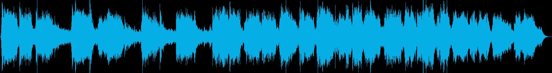 笛とピアノのヒーリング音楽の再生済みの波形