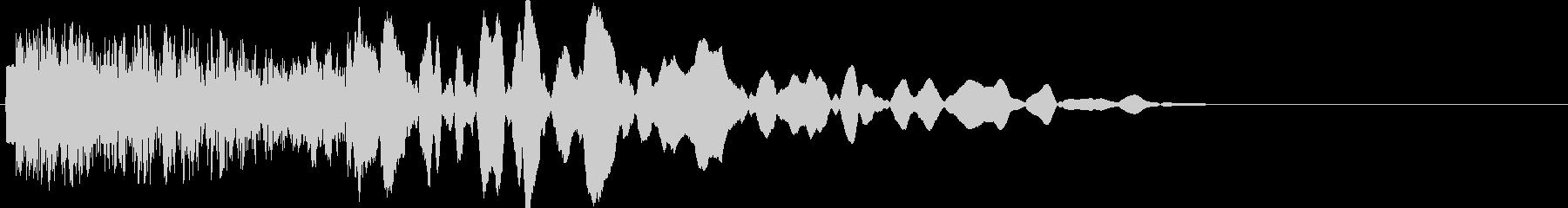 ロボットを殴る(機械を殴る音全般)の未再生の波形