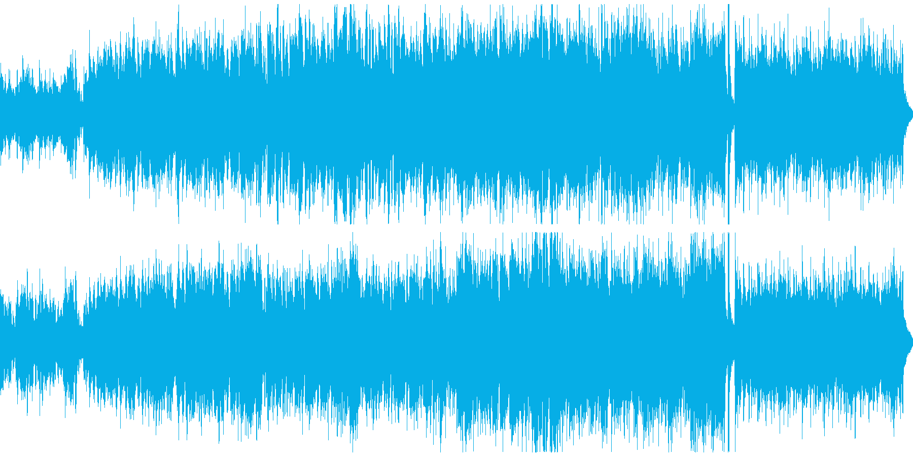 疾走感のあるケルト曲(ループ)の再生済みの波形