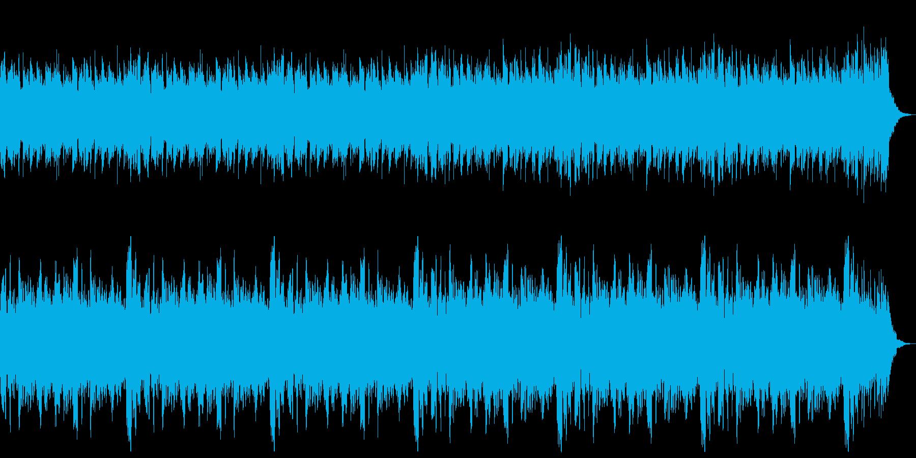 優しいサウンドの再生済みの波形