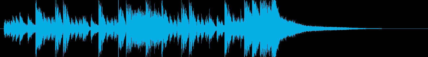 かわいいベルうきうきポップ日常ジングルdの再生済みの波形