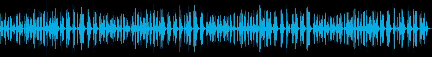 怪しい雰囲気のストリングスBGMの再生済みの波形