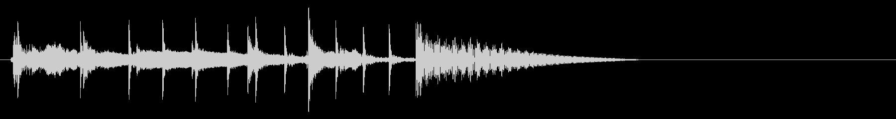 三味線と太鼓と笛の不穏な感じの未再生の波形