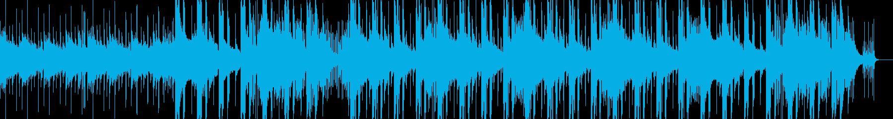 穏やかなブレイクビーツの再生済みの波形