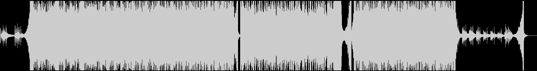 明るく広がりのあるオーケストラ曲の未再生の波形