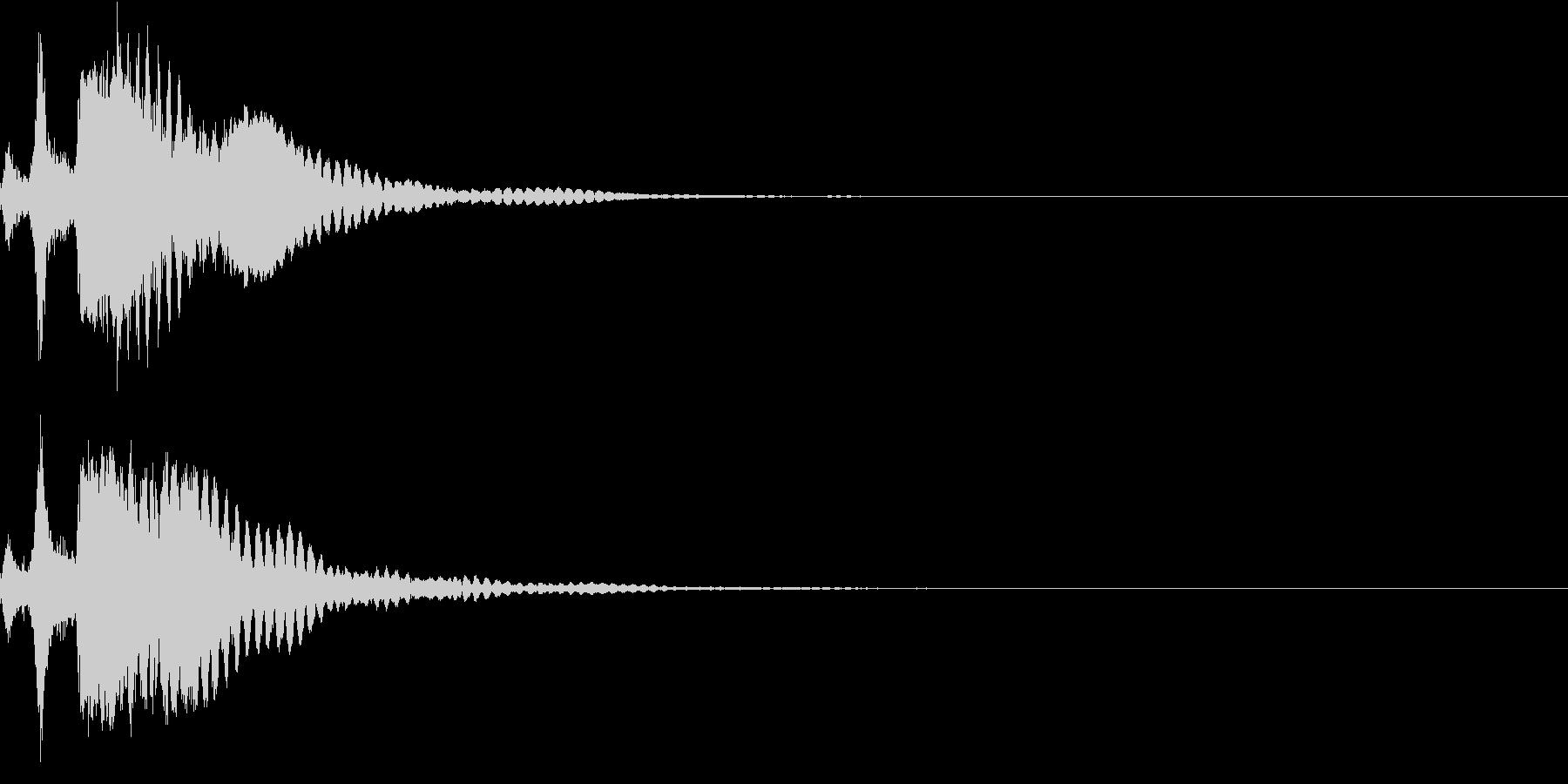 刀 キーン 剣 リアル インパクト Dの未再生の波形