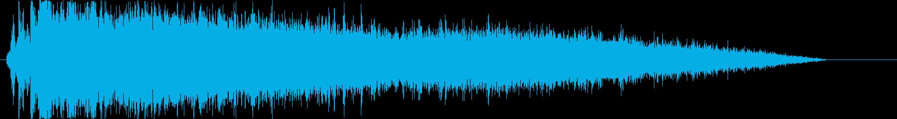 トイレの流水音1の再生済みの波形