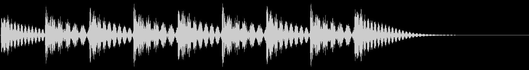 着信音のイメージの未再生の波形