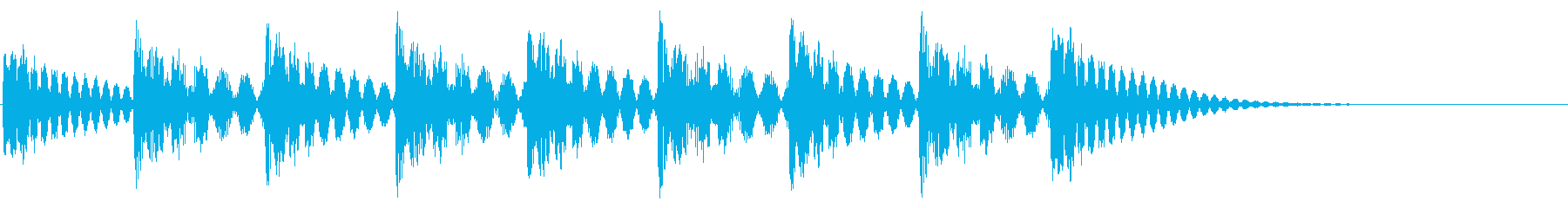 着信音のイメージの再生済みの波形