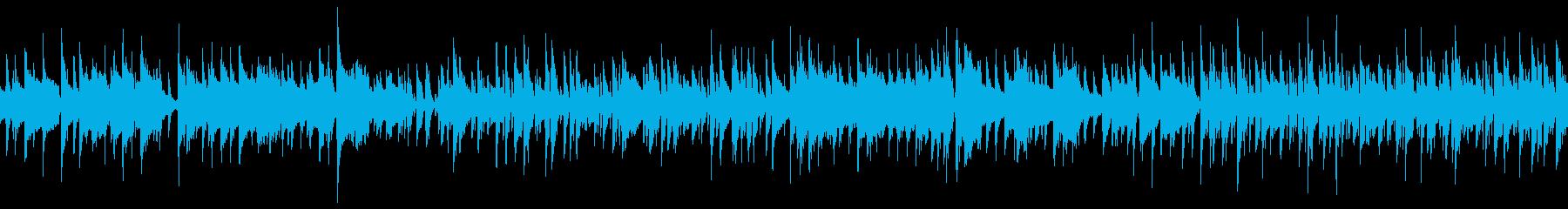 待機シーンのBGM (ループ仕様)の再生済みの波形