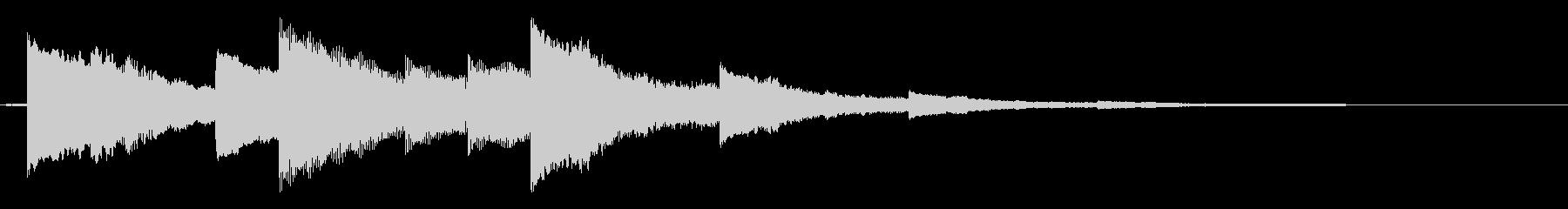ベルの静かな場面転回音5の未再生の波形