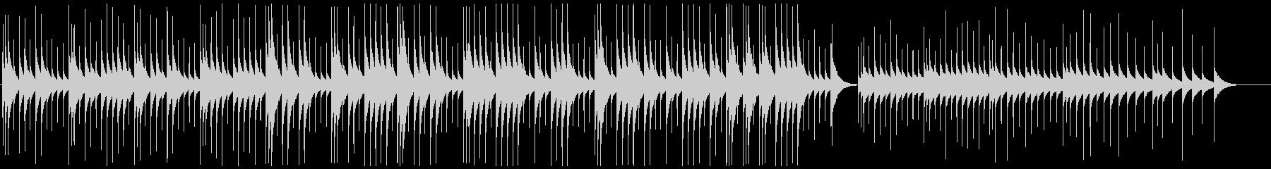 優しく安眠できるオルゴールミュージックの未再生の波形