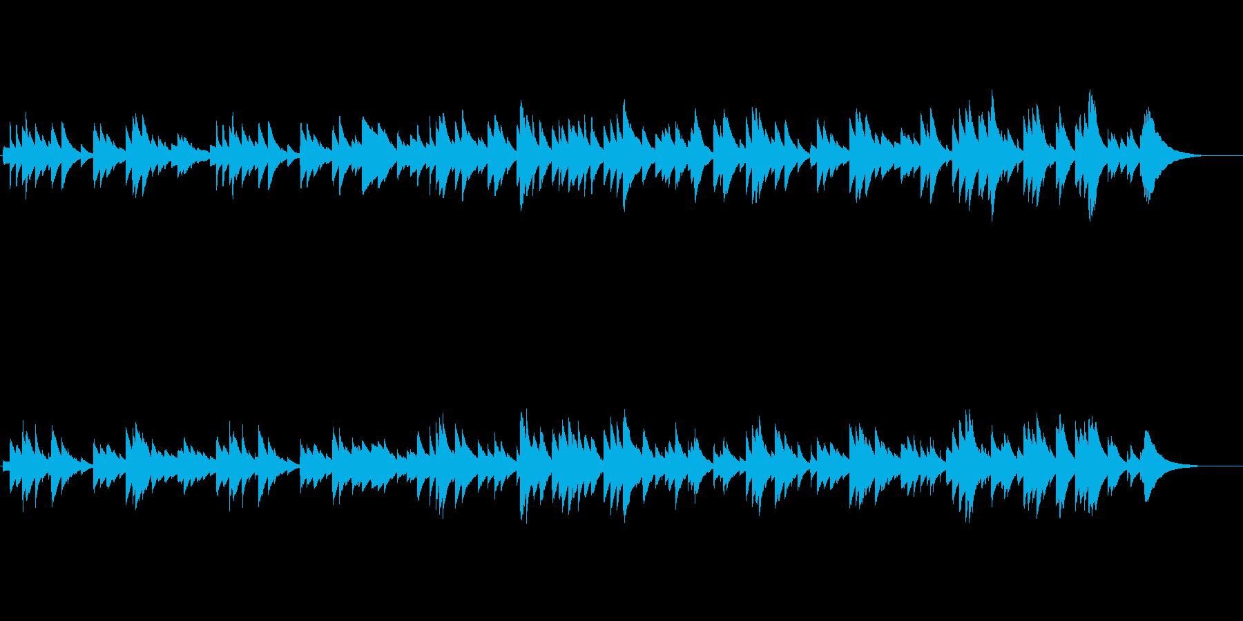 切ない雰囲気のオルゴールの再生済みの波形