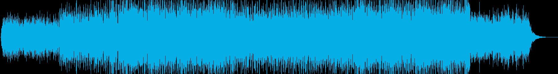 おしゃれで心踊るスタイリッシュBGMの再生済みの波形