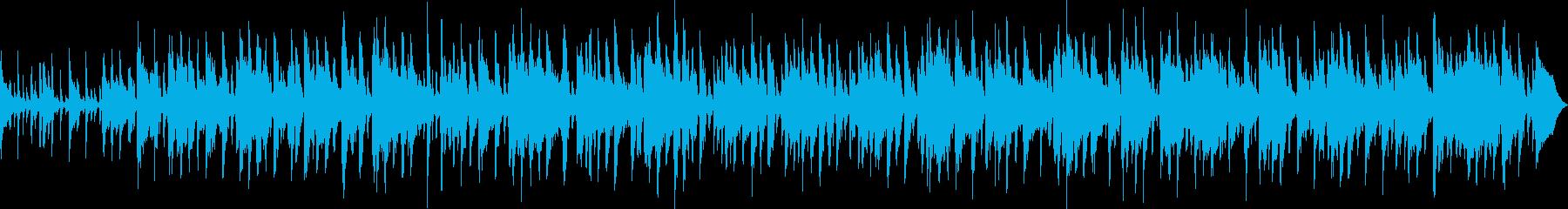 ブルージーなピアノとヒップドラムル...の再生済みの波形