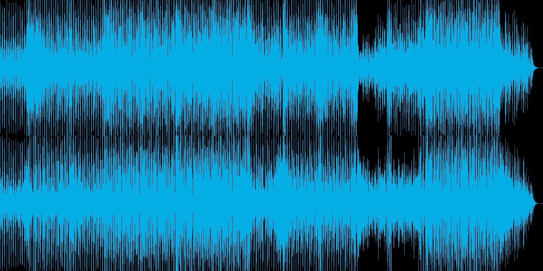 おしゃれで不思議な感じのBGMの再生済みの波形